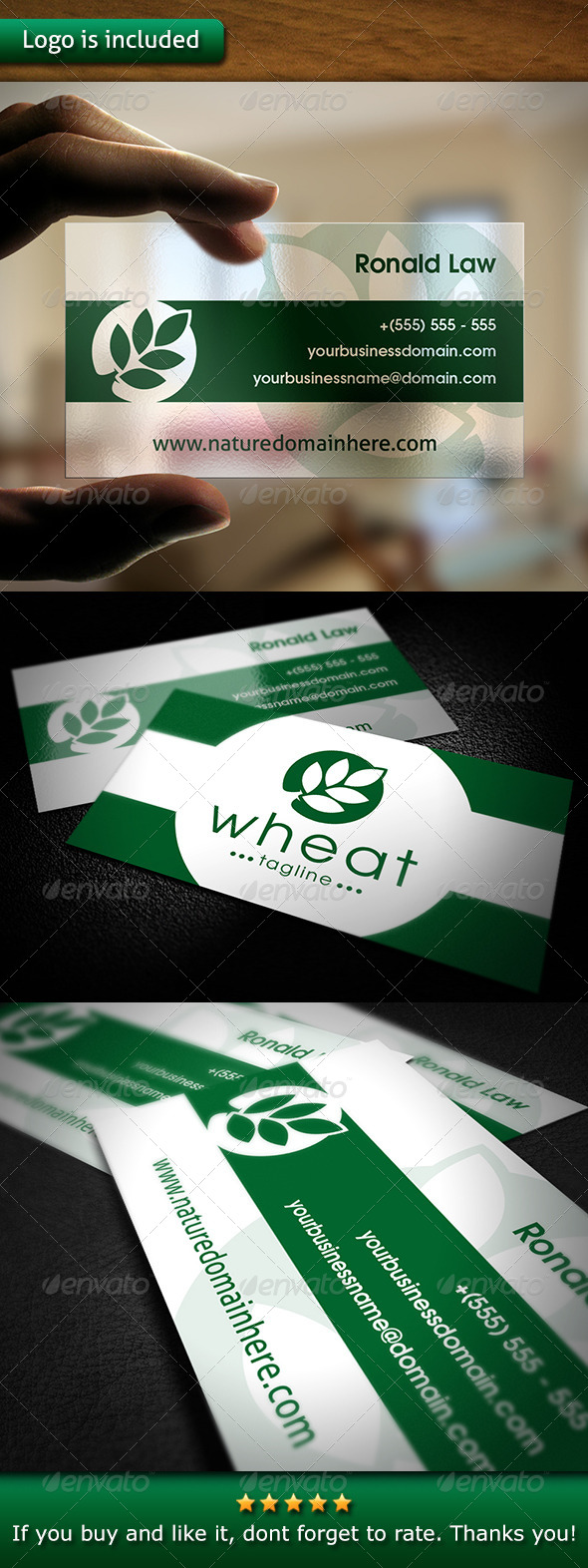 GraphicRiver Nature Business Card 6670353