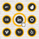 Reticle - CSS3 Social Networking Buttons - CodeCanyon Item for Sale