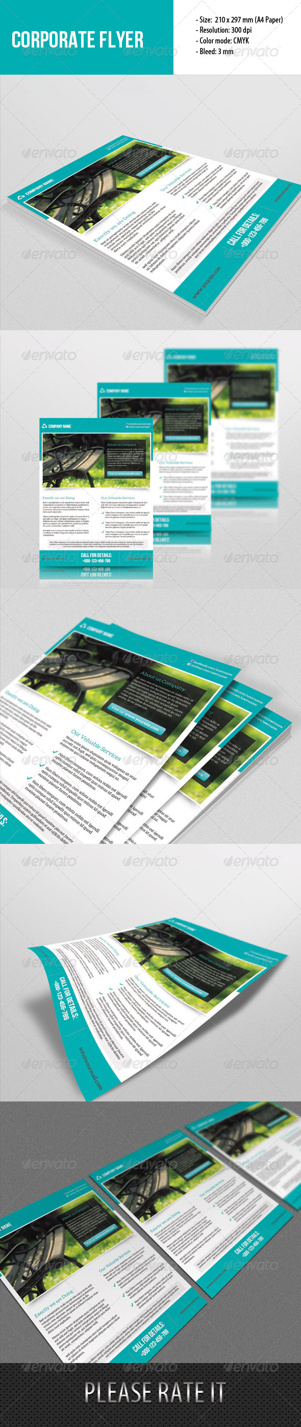 GraphicRiver Corporate Flyer Template 6660254