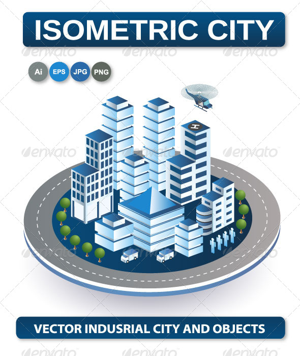 GraphicRiver Isometric View of the City 6671126