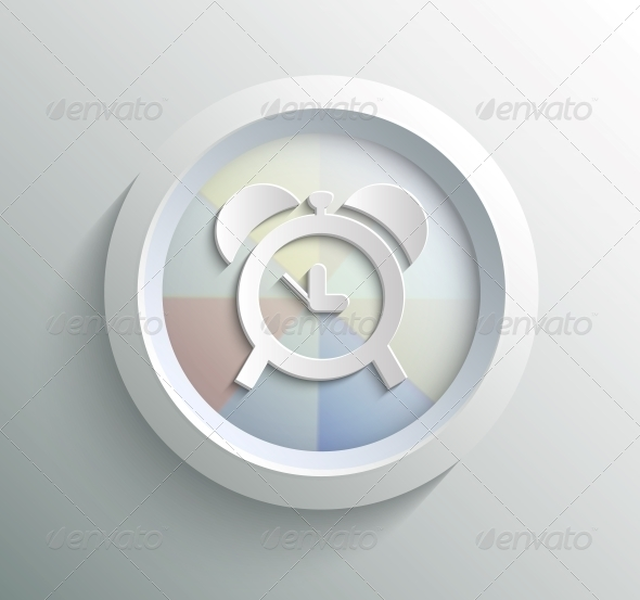 GraphicRiver App Icon Metal Time with Shadow 6671453