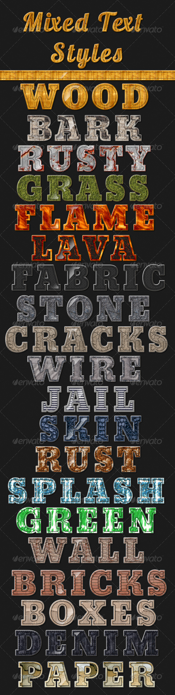 GraphicRiver 20 Mixed Text Styles 6671532