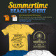 Summertime Beach T-Shirt - GraphicRiver Item for Sale