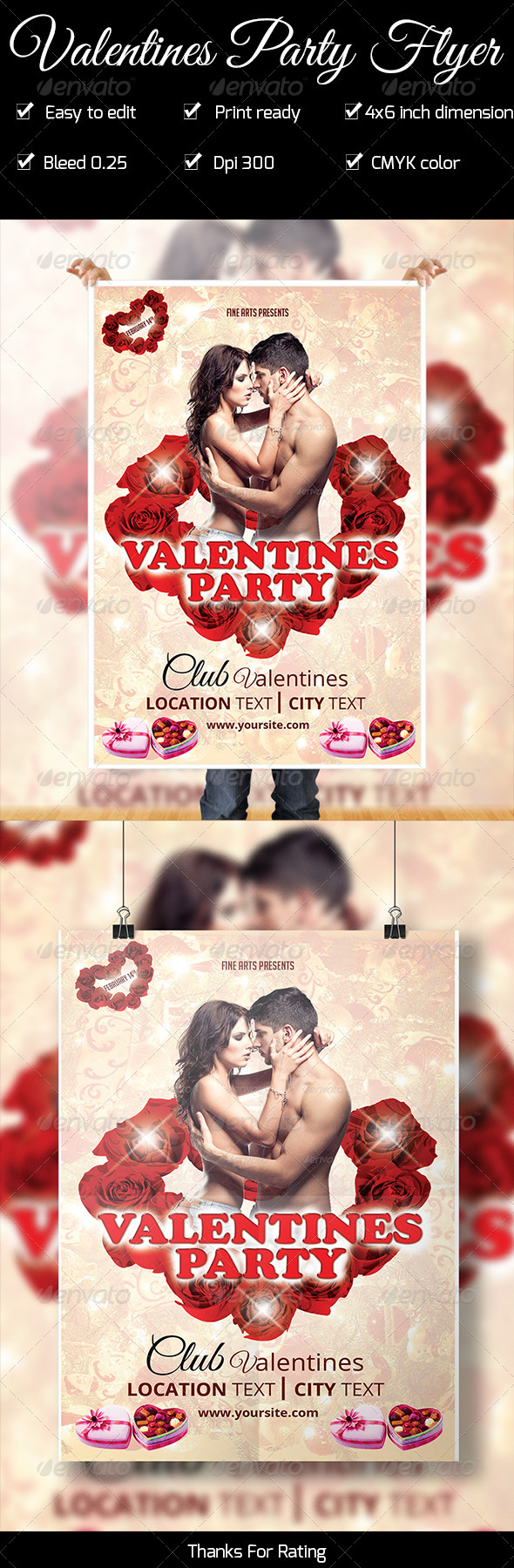 GraphicRiver Valentines Party Flyer 6672334