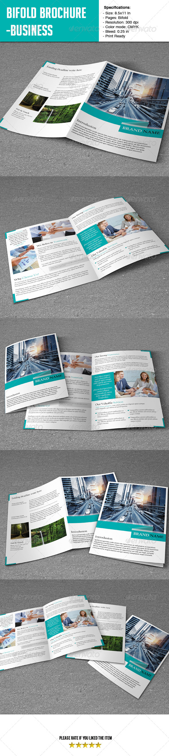 GraphicRiver Bifold Brochure- Business 6672358