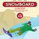 Snowboard Contest A3 Poster - GraphicRiver Item for Sale