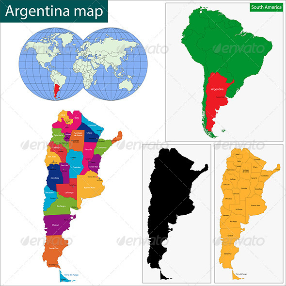GraphicRiver Argentina Map 6672718