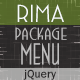 Rima jQuery -  Package Menu - CodeCanyon Item for Sale