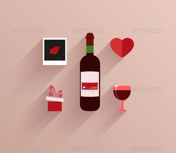 GraphicRiver Vector Flat Modern Love Background Eps10 6674379