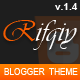 Rifqiy - Responsive Magazine/News Blogger Template - ThemeForest Item for Sale