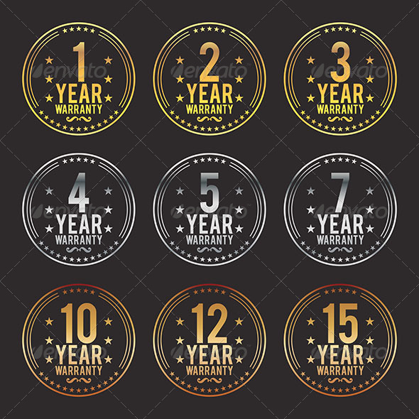 GraphicRiver Gradient Warranty Badges 6674842