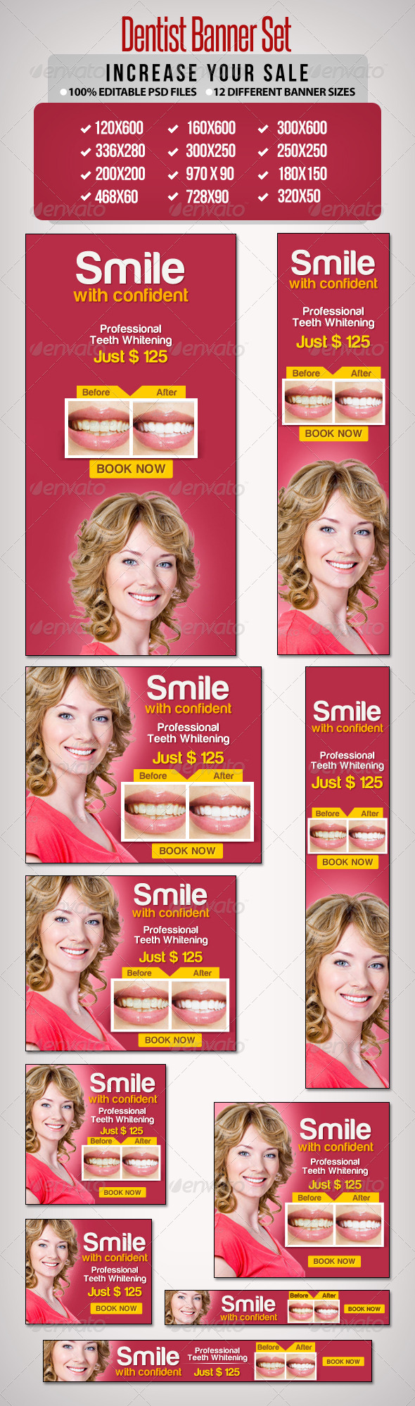 GraphicRiver Dentist Banner Set 6675174
