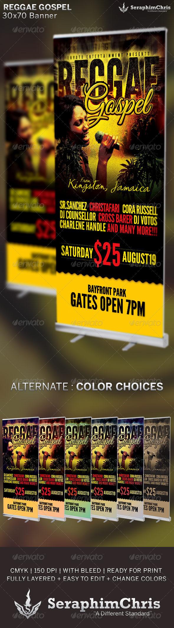 GraphicRiver Reggae Gospel Concert Banner Template 6675587