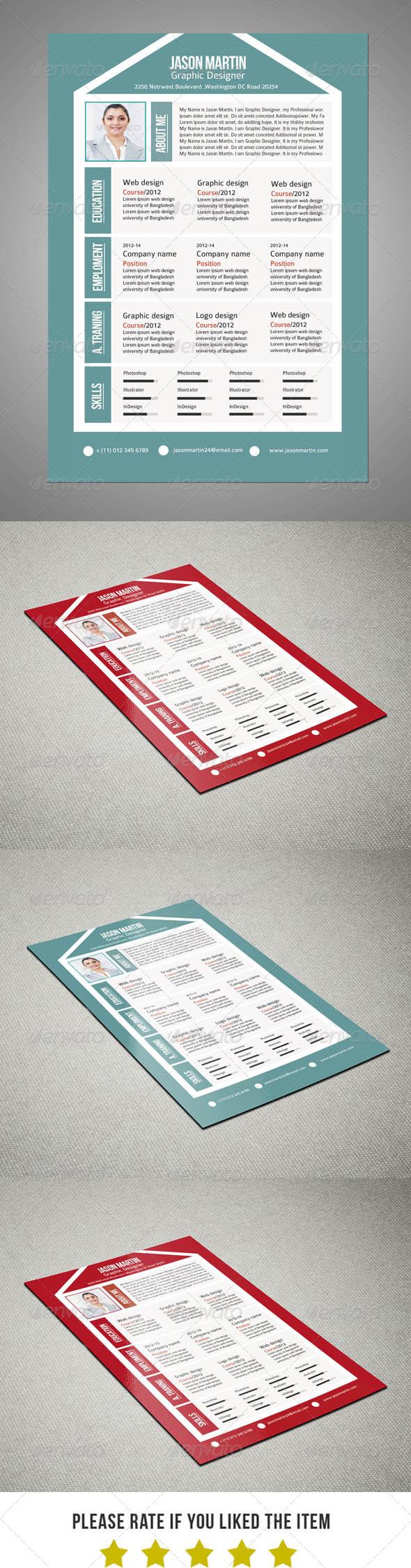 GraphicRiver Creative Pro Resume V9 6675817