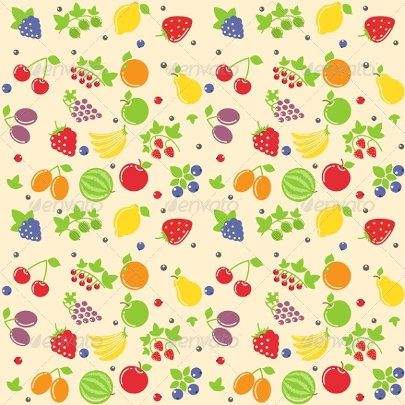GraphicRiver Seamless Fruit Texture 6676004