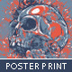 Grunge Poster with Skull - GraphicRiver Item for Sale