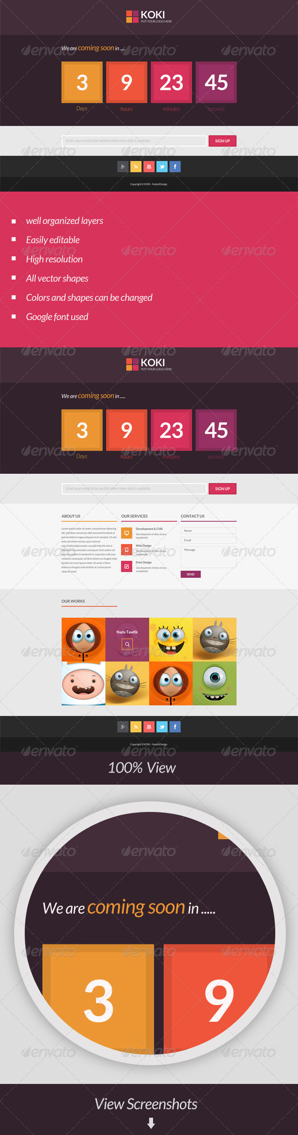 GraphicRiver Koki Clean Coming Soon Page 6672719