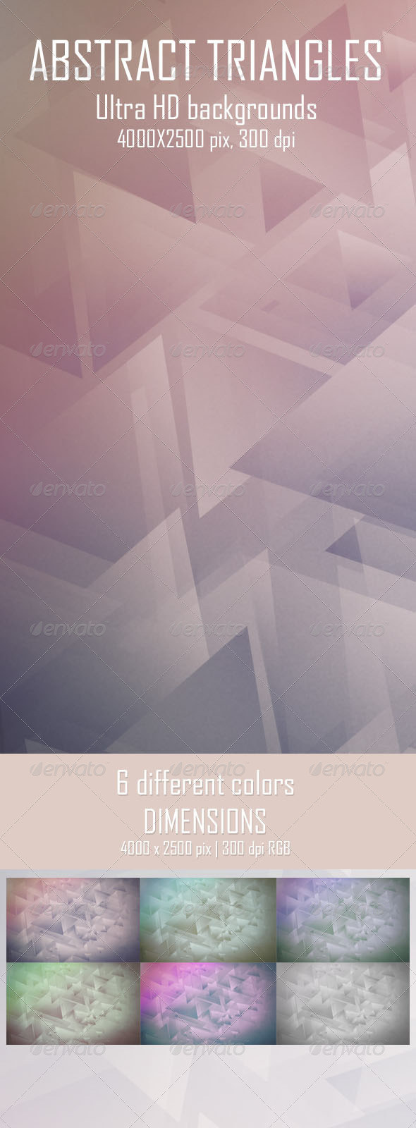 GraphicRiver Abstract Triangles Backgrounds 6675350