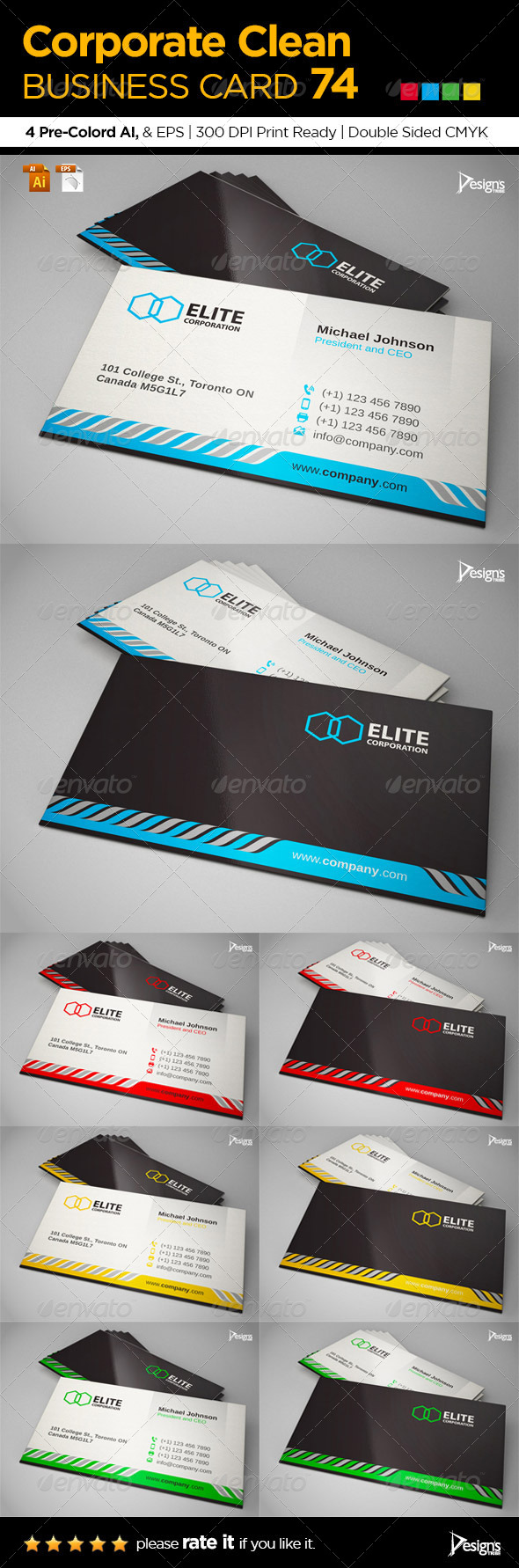 GraphicRiver Corporate Clean Business Card 74 6677258