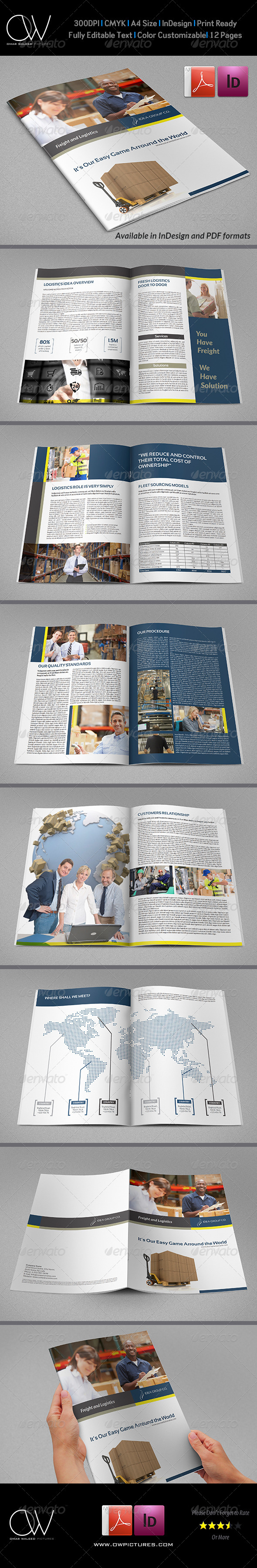 Company  Brochure Logistic Template Vol.21  - Corporate Brochures