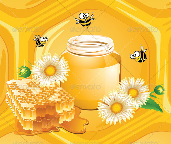 GraphicRiver Honey and Bees 6677904