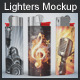 Lighters Mockup - GraphicRiver Item for Sale
