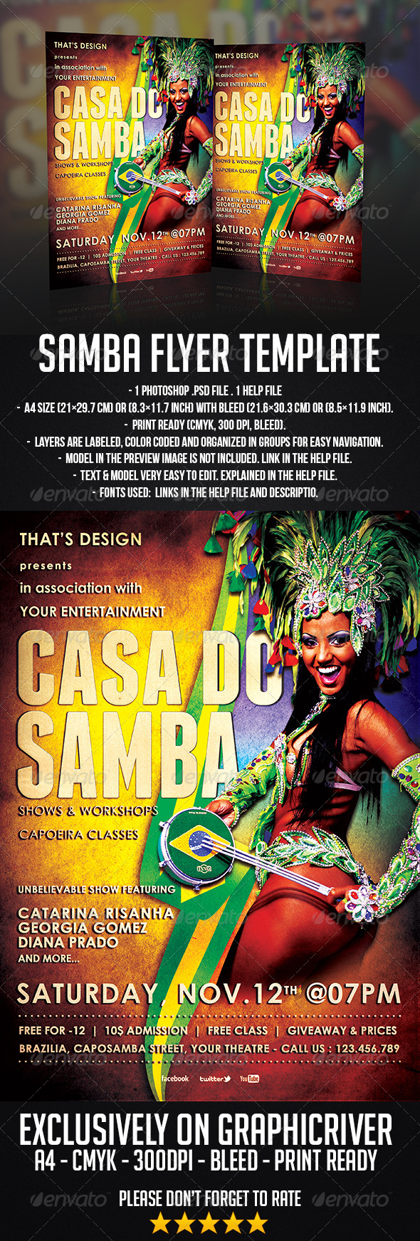 GraphicRiver Samba Flyer Template 6678779