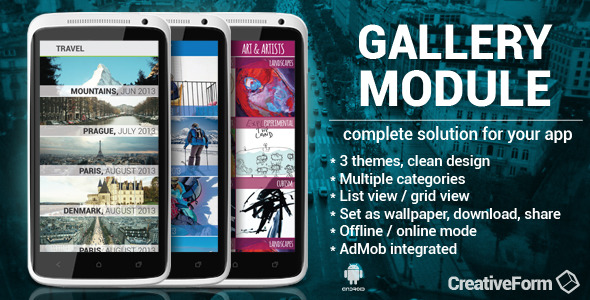 CodeCanyon Gallery module with integrated AdMob 6610003