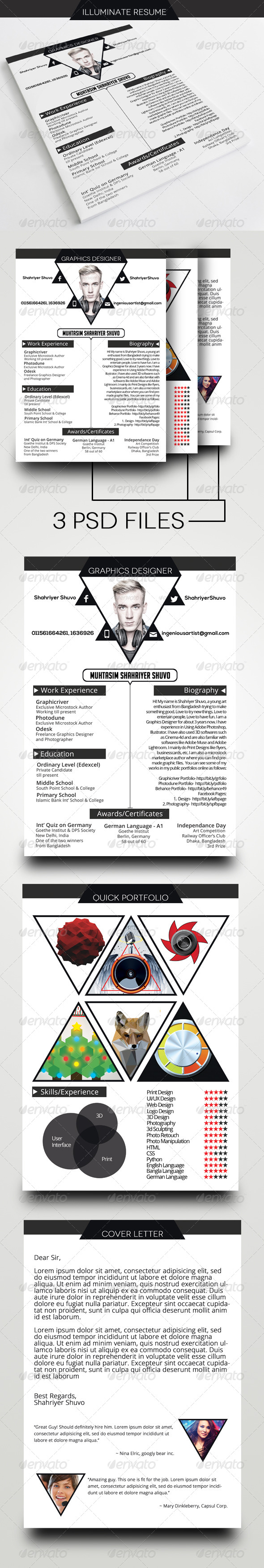 GraphicRiver Illuminate Resume CV Template 6679532