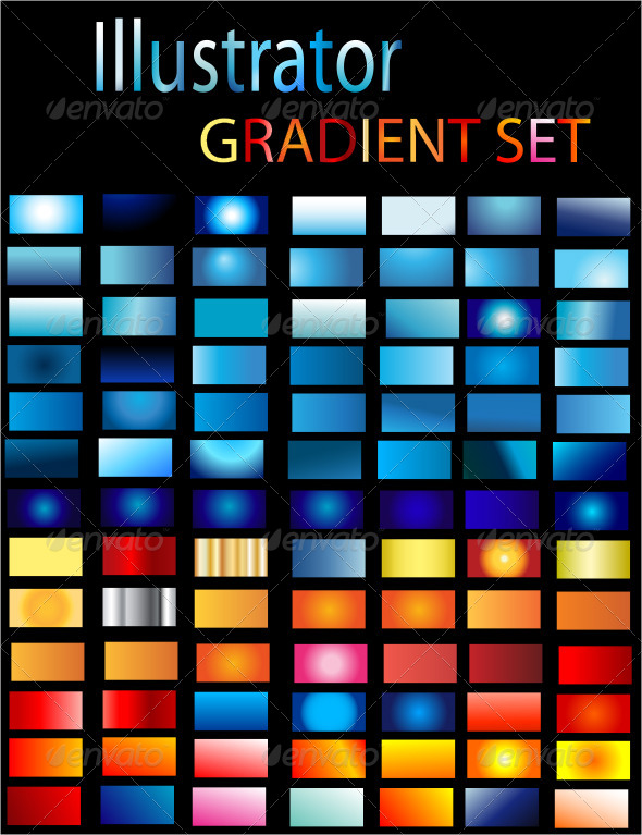 GraphicRiver Illustrator Gradient Set 6679602