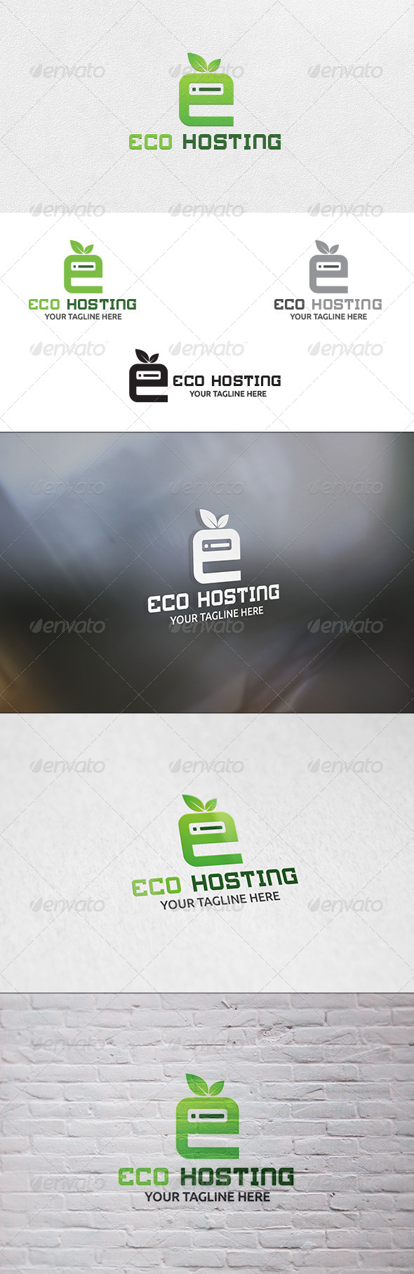 GraphicRiver Eco Hosting Logo Template 6679606