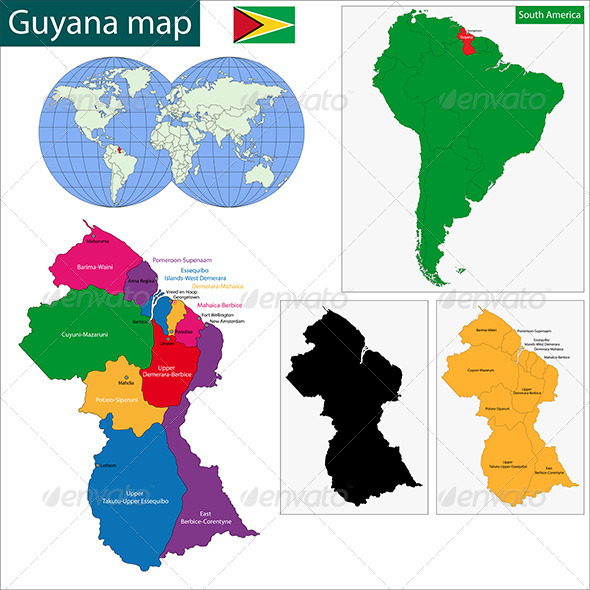 GraphicRiver Guyana Map 6679710