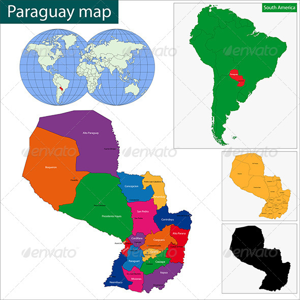 GraphicRiver Paraguay Map 6679747