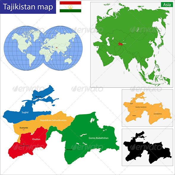 GraphicRiver Tajikistan Map 6679975