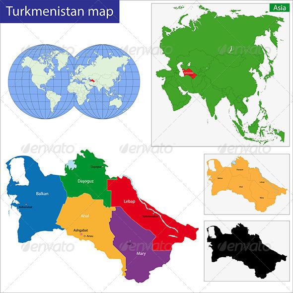 GraphicRiver Turkmenistan Map 6680110