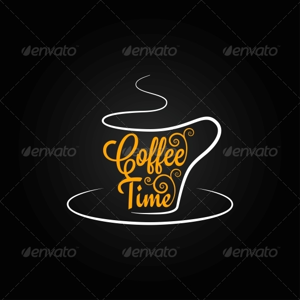GraphicRiver Coffee Cup Sign Design Background 6680827