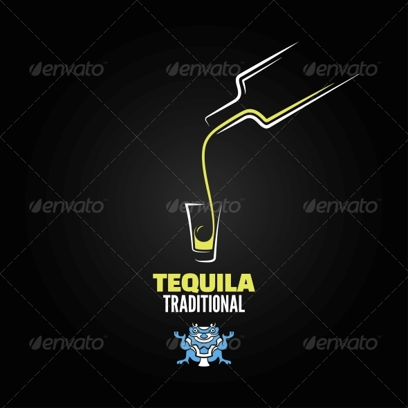 GraphicRiver Tequila Shot Menu Design Background 6680844