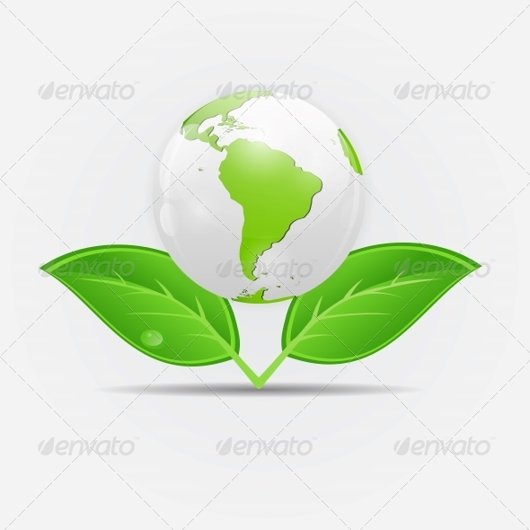 GraphicRiver Green Eco Planet Concept Vector Illustration 6681099