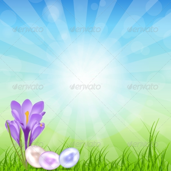 GraphicRiver Easter Eggs Card with Colourful Eggs Vector 6681101