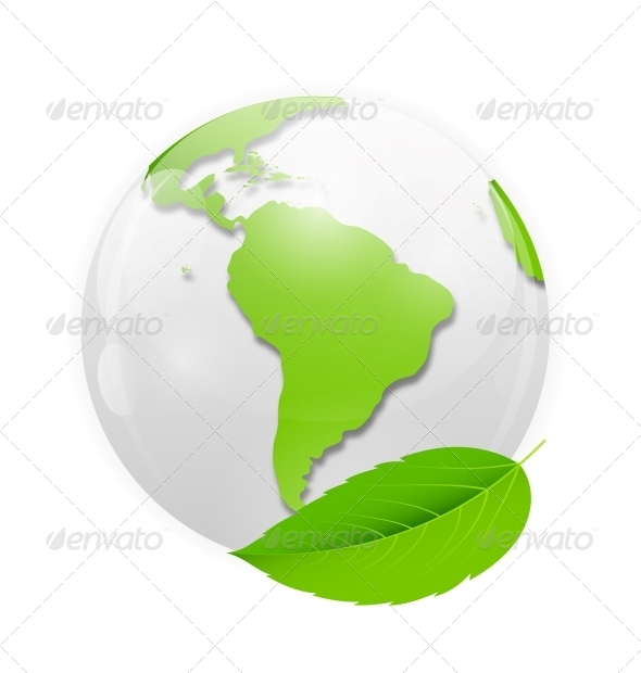 GraphicRiver Green Eco Planet Concept Vector Illustration 6681103