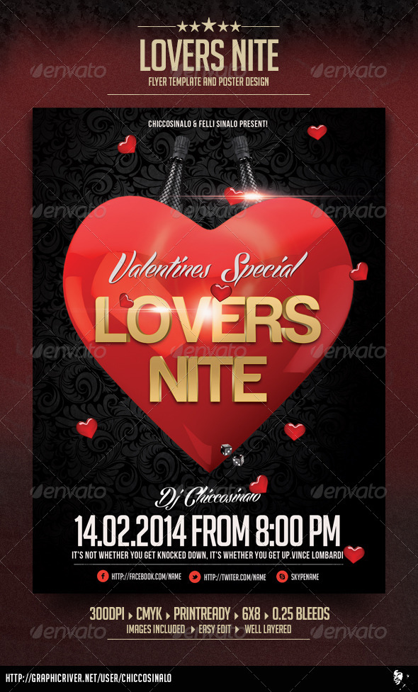 GraphicRiver Lovers Nite Flyer Template 6681642