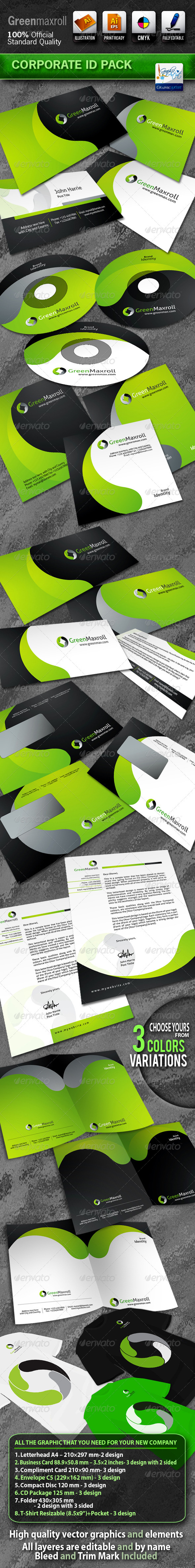 GraphicRiver GreenMaxroll Business Corporate ID Pack With Logo 700023