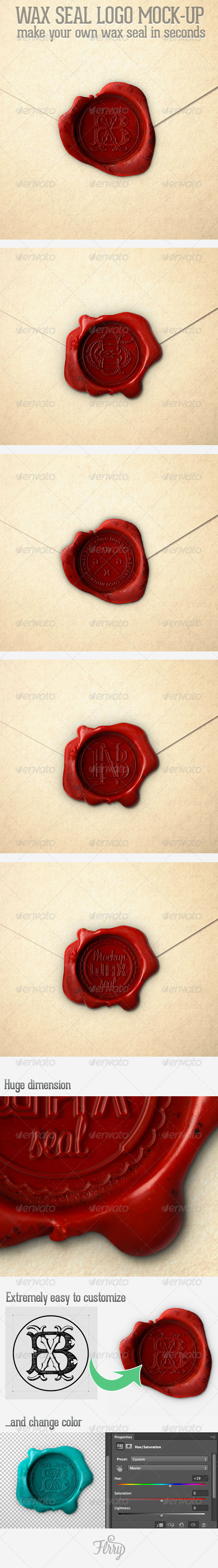 GraphicRiver WaxSeal Logo Mockup 6682353
