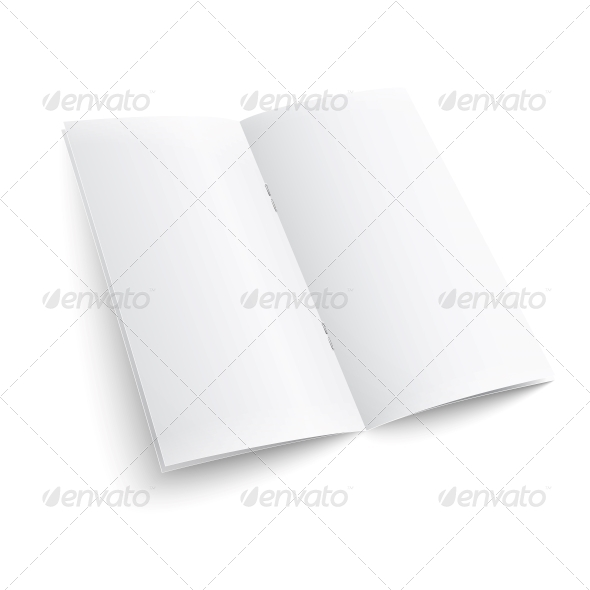 GraphicRiver Blank Paper Brochure with Clips 6682659