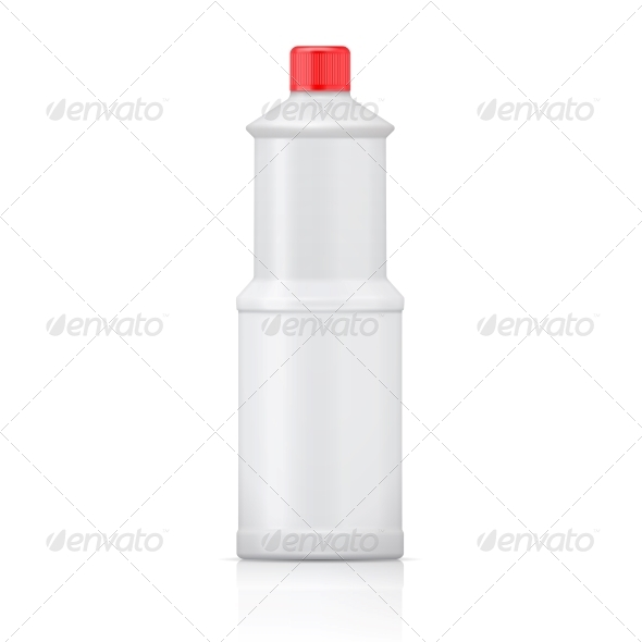 GraphicRiver White Plastic Bottle for Bleach 6682666