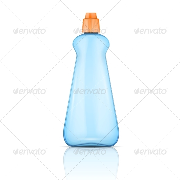 GraphicRiver Blue Plastic Bottle with Orange Cap 6682677