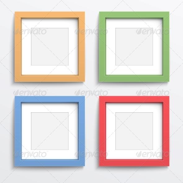 GraphicRiver Color Frame Set on Gray Wall 6682688