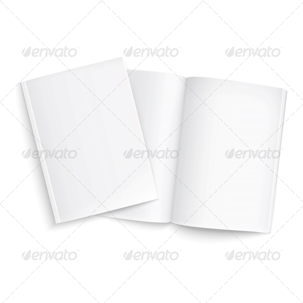 GraphicRiver Couple of Blank Magazines Template 6682694