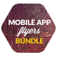 Bundle 3x Mobile App Promotion Flyers / Phone App - GraphicRiver Item for Sale
