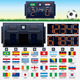 Vector Soccer Scoreboard with Flags - GraphicRiver Item for Sale